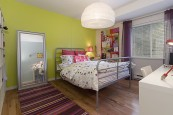Bright clean colours with coordinating textiles and life and interest