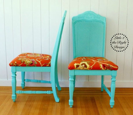 Blue cane chairs