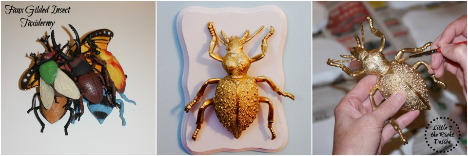 Faux Gilded Insects