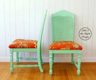 Green cane chairs