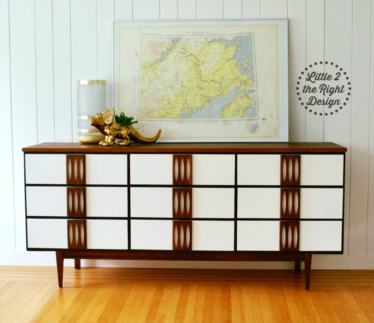 Gloria the mid century modern 9 drawer triple dresser sold little 2 the right design - Vancouver mid century modern furniture ...