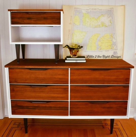 Harvey 6 drawer and end table