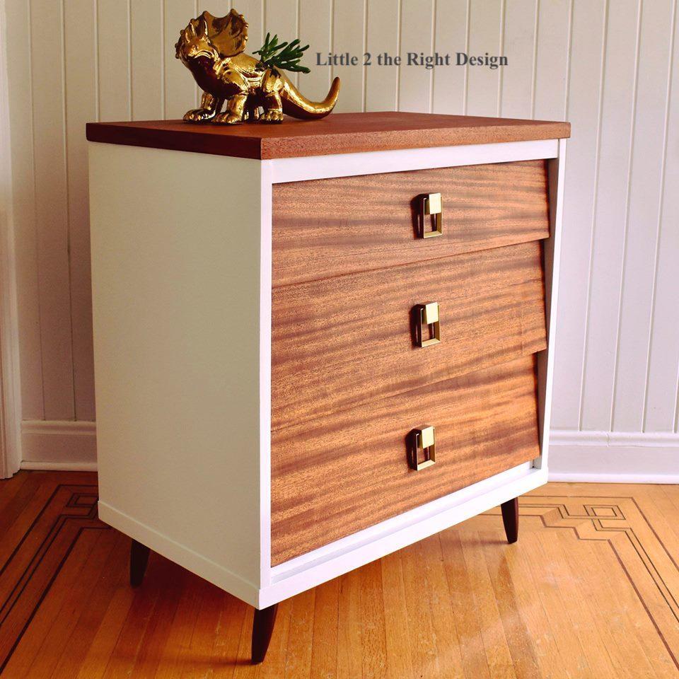 Carson The Mid Century Modern Mahogany Virginia House 3 Drawer Dresser U2013  Sold